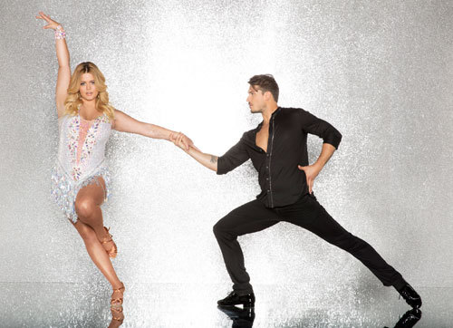 Sasha Pieterse with professional dancer Gleb Savchenko