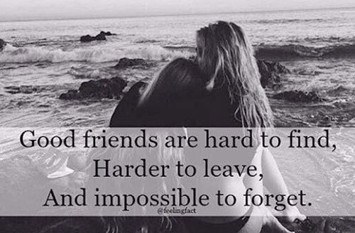 When you meet a good friend, you will just know it.