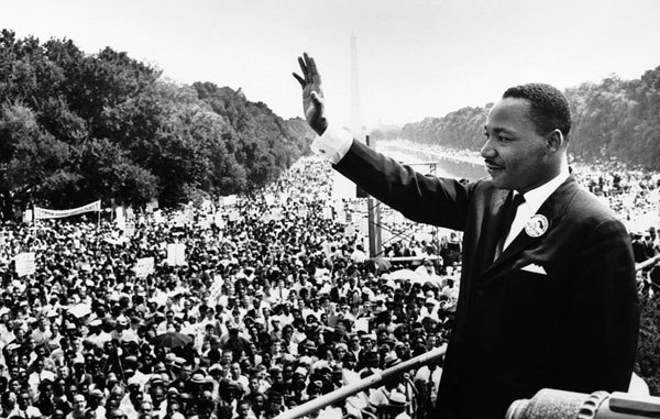 Martin Luther King Jr. delivering his I Have A Dream speech