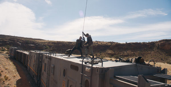 Thomas and Newt hook up the train car