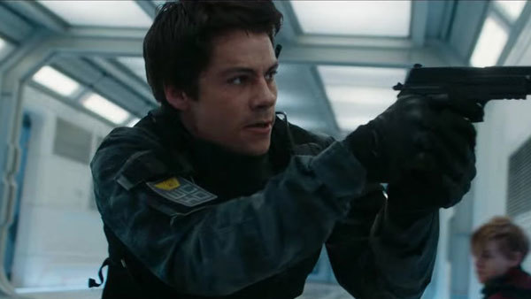 Thomas (Dylan O'Brien) looks for Minho