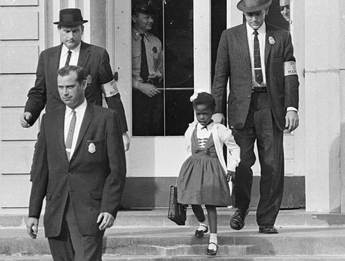 U.S. Marshals escorted Ruby Bridges to and from school.