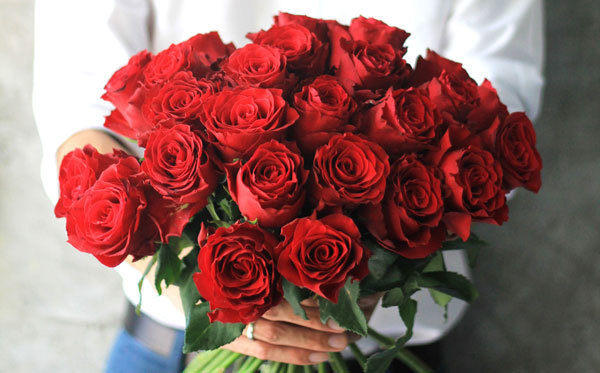 Whether it's a dozen or just one, roses are ultra-romantic