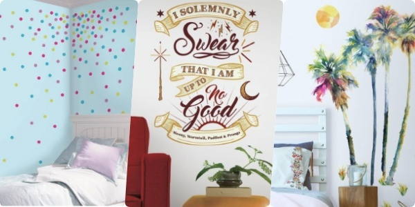 Feature sticky wall art collage roommatesdecor
