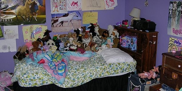 If your bed is covered in so many stuffies there's no place to sleep, it's time to reclaim your bed