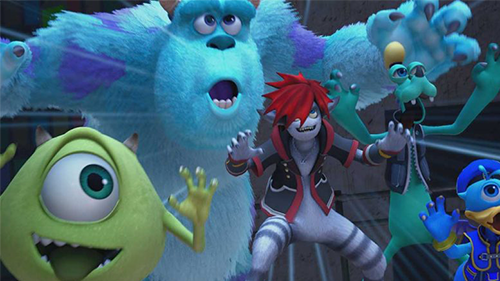 Mike and Sully join your party in their world.