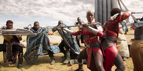 Okoye (Danai Gurira) in battle