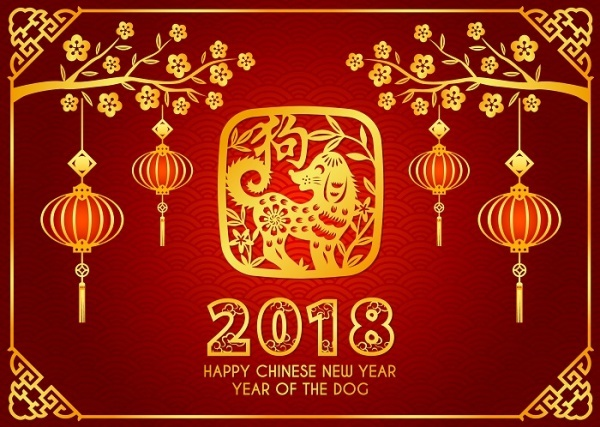 Anyone born between February 4, 2018 and February 3, 2019 is born in the year of the Brown Earth Dog.