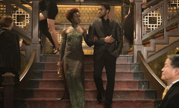 Nakia and T'Challa look spiffy undercover in Korea