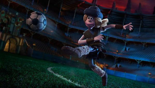 Goona kicks a goal