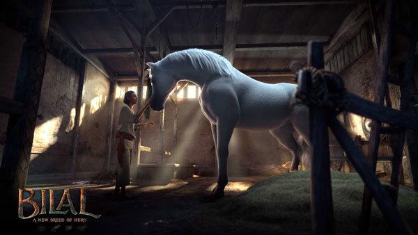 Bilal meets his beautiful horse