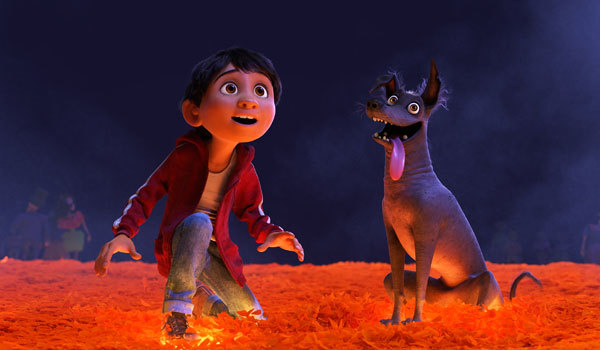 Miguel with dog Dante