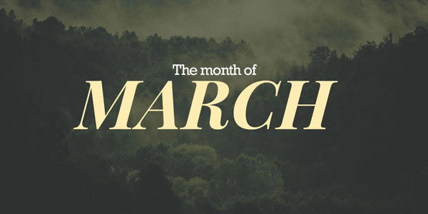 Feature the month march feat
