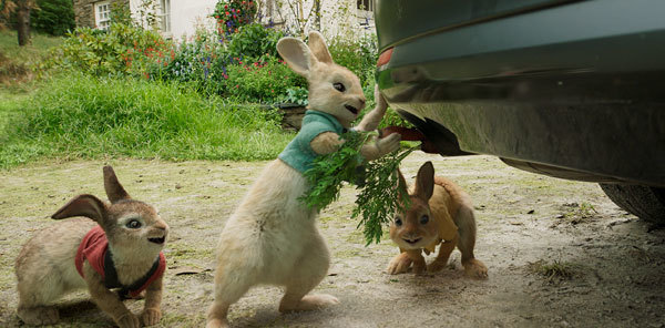 Flopsy, Mopsy and Cottontail sabotage a car