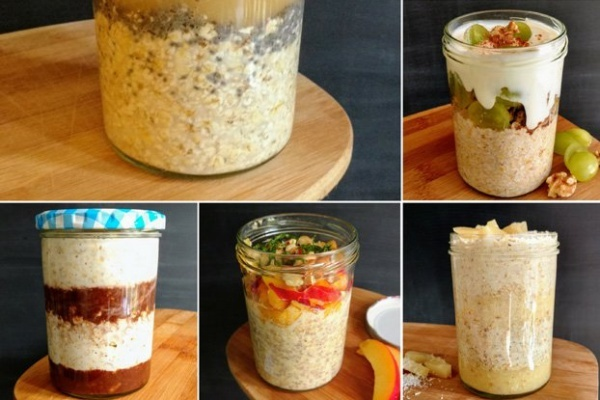 There are unlimited combinations of mix-ins you can add to overnight oats. You can have a different flavor every day