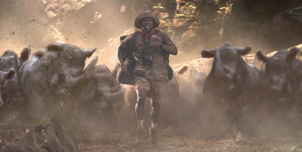Fridge's avatar caught in rhino stampede