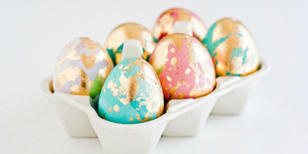 Feature gold leaf easter eggs feat