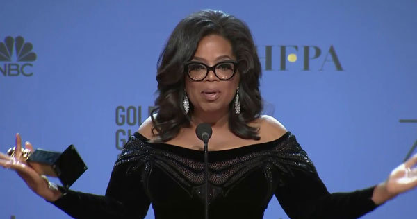 Oprah floored the world with her empoweing speech about women.