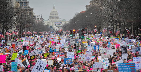 A glimpse of the Women's March.