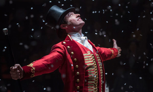 Hugh Jackman as ringmaster Barnum
