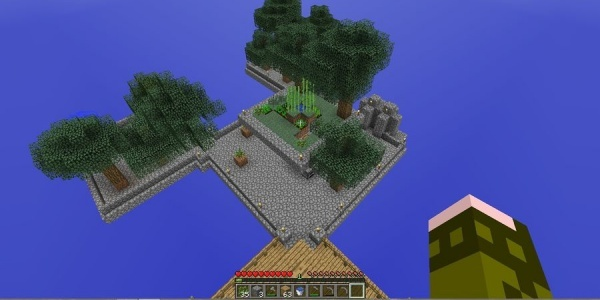 Don't fall off the edge of the world in Skyblock