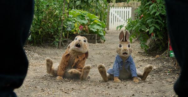 Peter and Benjamin in trouble in the garden