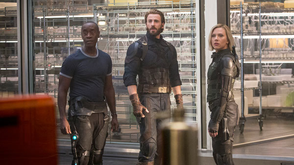 War Machine, Captain America and Black Widow