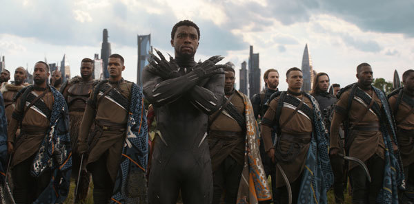 T'Challa/Black Panther leads his army