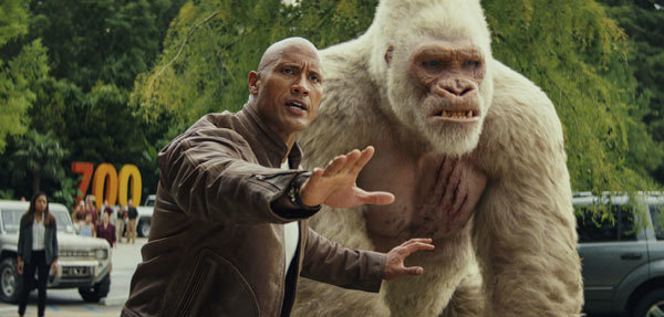 Dwayne's character protects his friend George