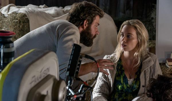 Actor/Director John Krasinski directs wife Emily Blunt
