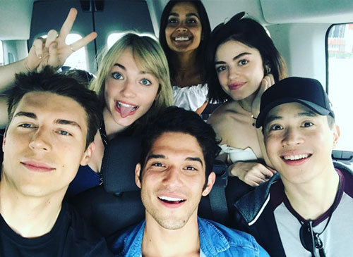 Lucy and the young cast bonding  in Mexico