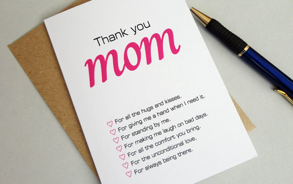 Write mom a note about why you love her.