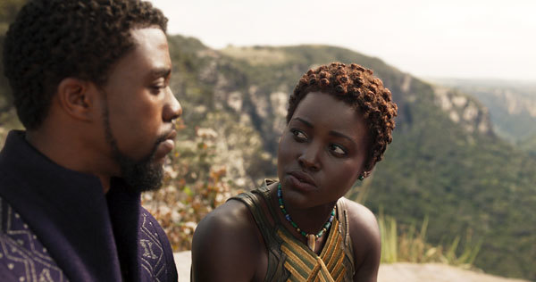 T'Challa and Nakia discuss their relationship