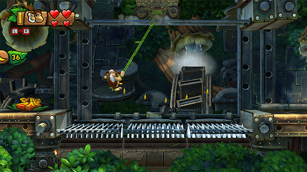 Each Kong brings their own special move to assist the game's tight platforming.