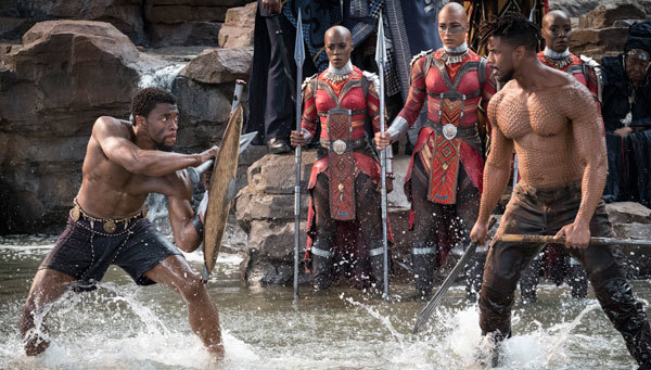 T'Challa/Black Panther and Erik Killmonger