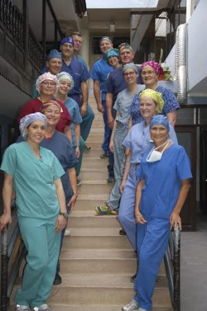 Group of nurses wearing kimkaps
