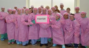 Nurses with Kimkaps fighting cancer