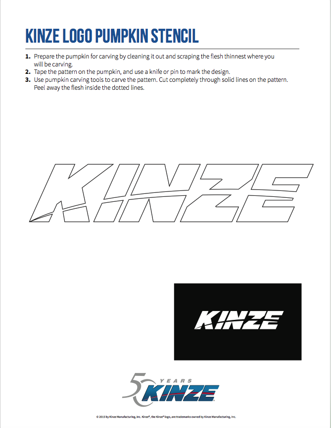 Kinze Logo Stencil
