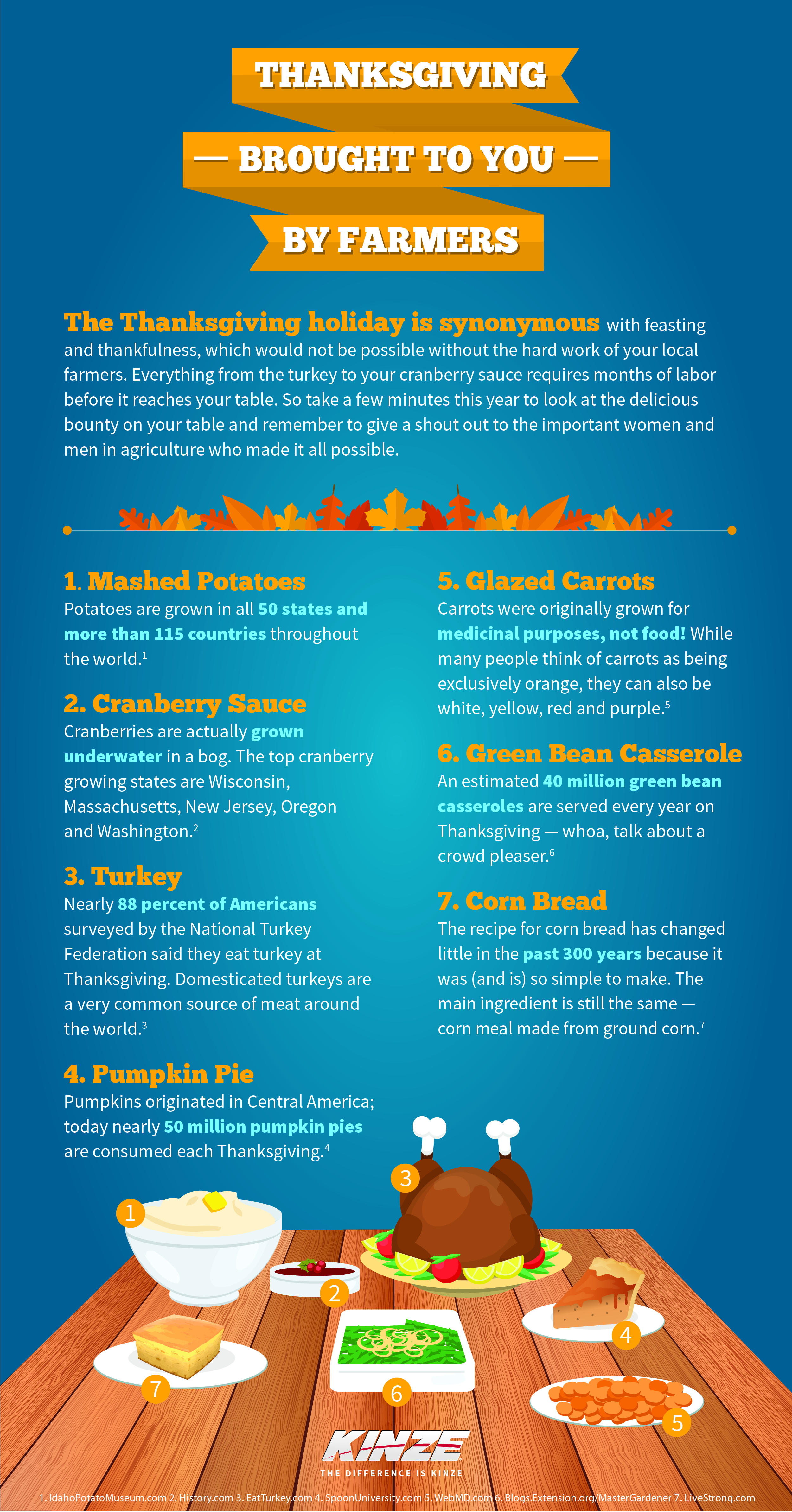 Kinze Thanksgiving Infographic