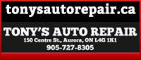 Tony's Auto Repair (Aurora) Limited