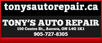 Tony's Auto Repair (Aurora) Limited