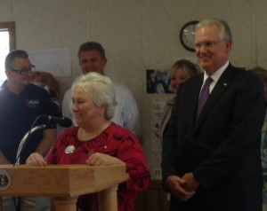 Pam LaFrenz and Governor Jay Nixon