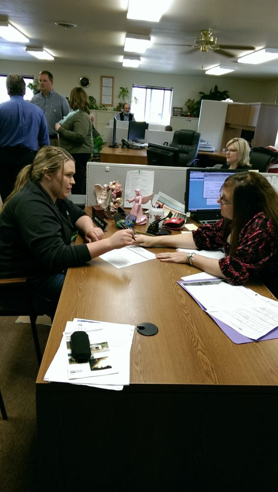 Producer Katie Safley signs up for the Livestock Forage Disaster Program