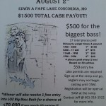 Concordia Bass Fishing Tournament Info.