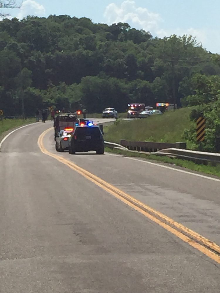 Three injured in collision in Moniteau County