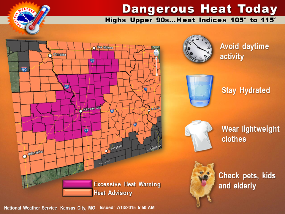 Excessive heat wave hits Midwest, Missouri facilities provide relief