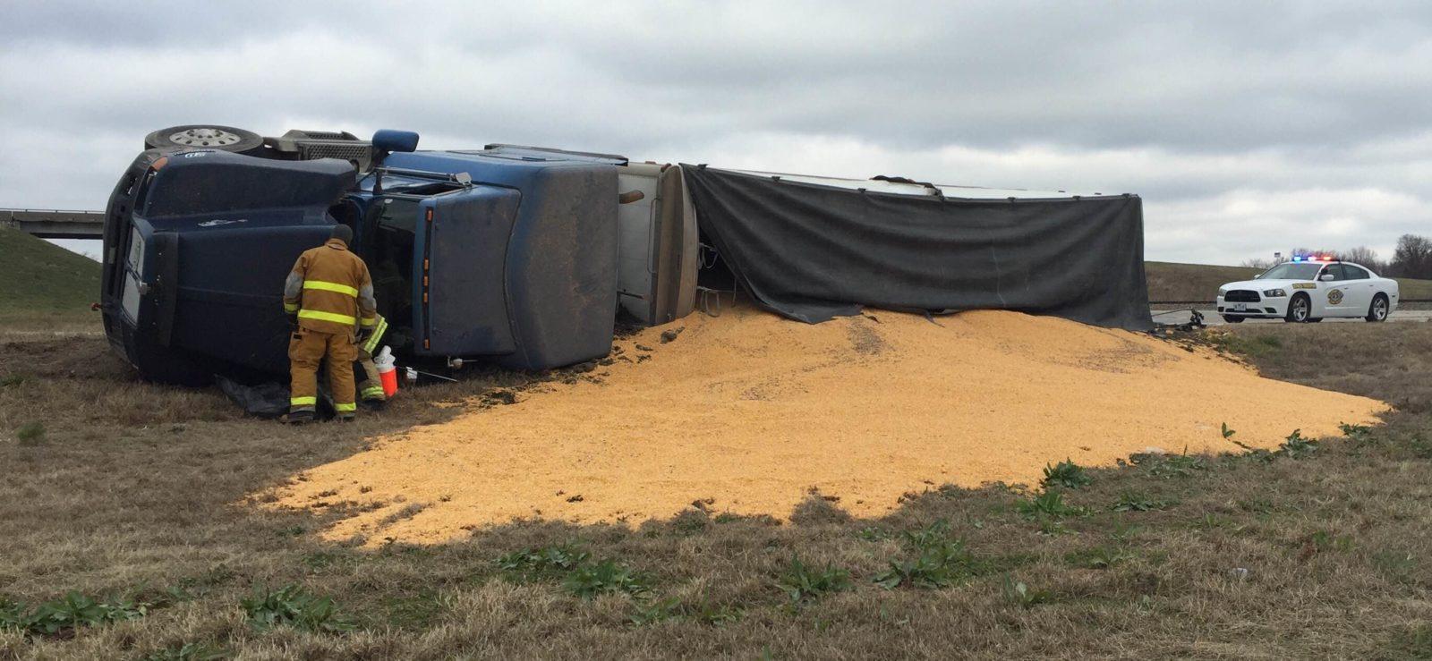 DEVELOPING: Semi-trailer overturned at 65 Highway, 10 Highway junction