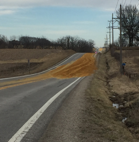 UPDATE: Breaking News: Feed spill causing traffic concern in Carroll County