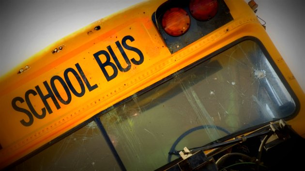 Car slams into school bus in Clinton County, injures driver