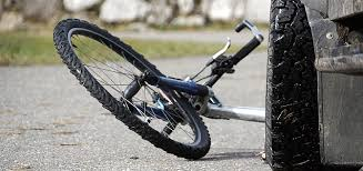A bicycle ran into a car in Pettis County